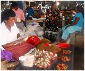 Women selling at the Suva and Nausori Markets. Photographs ©A.Vunisea